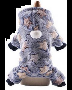 Pyjama pour chiens, bleu à pattes