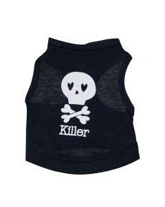 chandail pour chien style camisole noir killer