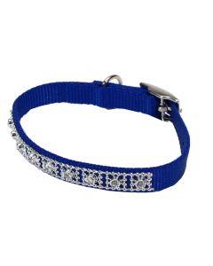 Collier bleu avec pierres précieuses pour chiens, Li'l Pals