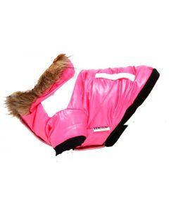 manteau hiver pour chien avec capuchon et double polar