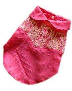 Chemise rose pour chien