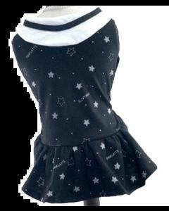Robe noire avec étoiles pour chiens