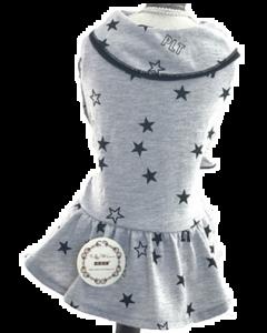 Robe grise avec étoiles pour chiens