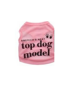 Camisole rose pour chiens top dog model